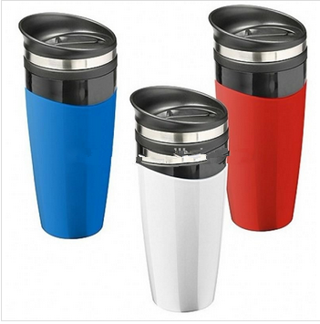 plastic travel vacuum water bottle coffee mug platic mug travel cup sports auto mug