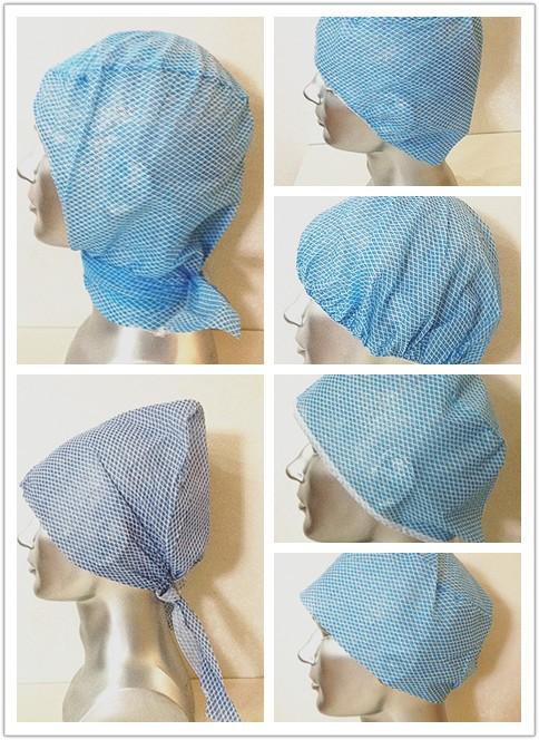 spunlace bouffant caps surgical cap