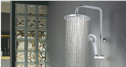 brushed nickel shower set