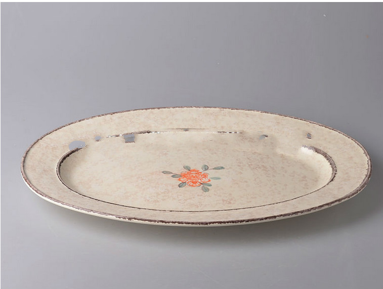 16 Ceramic charger plate with flower design