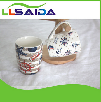 Creative mugs and cups lady cup saida bone china and saucer