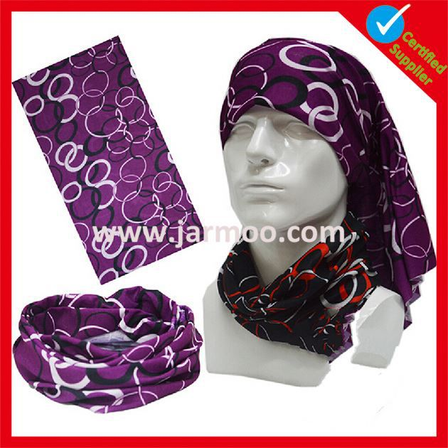 microfiber printed multifunctional outdoor stretch headband