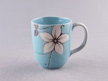 cheap ceramic promotional coffee mug with handpainting