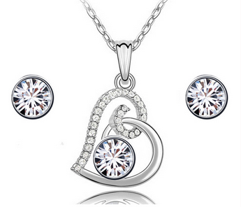 Free shipping hot heart Jewelry set
