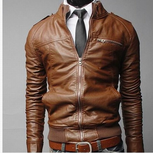 Hot Selling Cheap Classical Black Leather Fashion Genuine Leather Jacket For Men