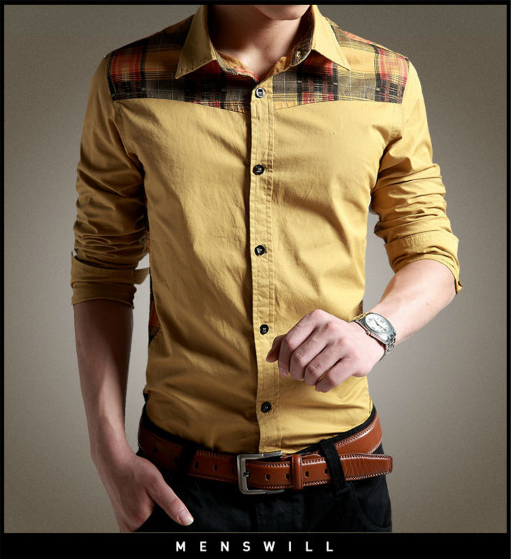 100% Cotton long sleeve shirt With New Stylish long sleeve shirts for men Suitable for Business and Casual
