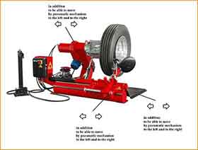 heavy duty truck tire changer