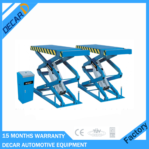 Inground mounted scissor car lift