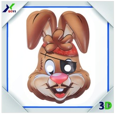 Custom UV Printing Facial Cartoon Mask, OEM Made Animal Party Mask