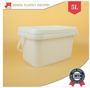 5 liter square plastic bucket packaging plastic bucket with square lid