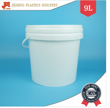 9 kg wall painting plastic bucket latex paint buckets with lid and palstic handle
