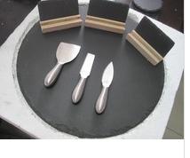 table lazy susan,slate lazy susan,slate plate lazy susan,lazy susan tableware