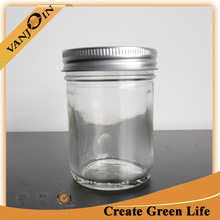 Air Tight 250ml Glass Coconut Oil Jar Food Grade