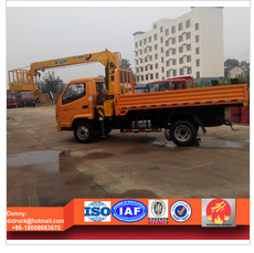 T-king light truck with loading crane, 2ton truck mounted truck with busket