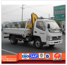 2tons container loading truck with crane, T-king Knuckle Boom Crane
