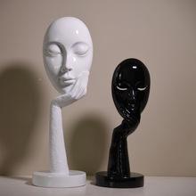European modern resin thinker mask fashion craft creative home decorations