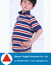 Wholesale Tops Quality Kids Fashion Polo Stripe Shirt 2014