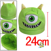 Monsters University style Mike Wazowski and JamesP Sullivan cosplay hats