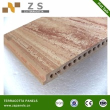 Latest design of wood grain terracotta panels for exterior wall or floor