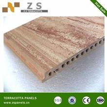 Latest design of wood grain terracotta panels for exterior wall or floor