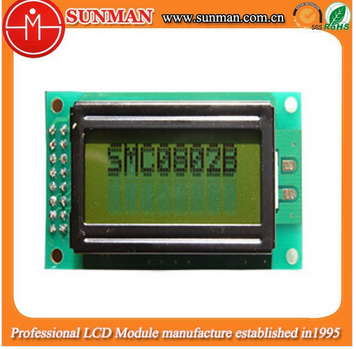 8x2 characters lcd module with HD44780U controller