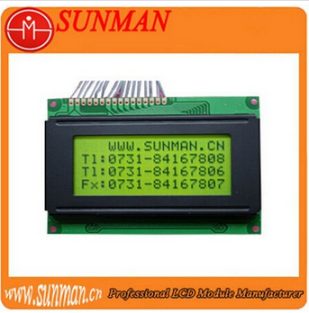 16x4 character lcd module with STN yellow-green backlight (87.0mmx60.0mm )