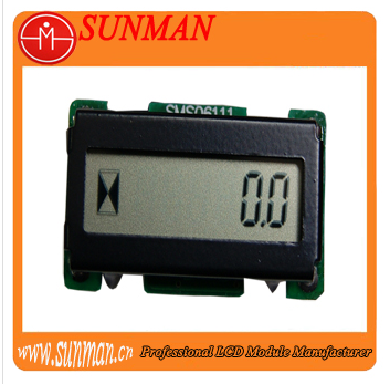 Hourmeter LCD module with operating voltage 4.5-18.0V