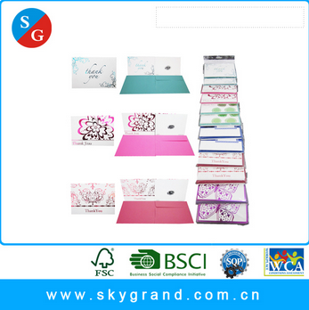 Customized free samples hot stamping envelope matched gift card
