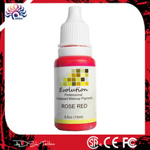 Professional 12 color evolution permanent makeup pigment
