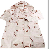 light weight camouflage military raincoat