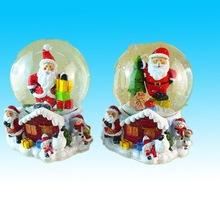 Hand made mini resin glass ball/water snow ball santa inside