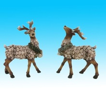 Hotsale craft creative resin deer figurine for christmas day