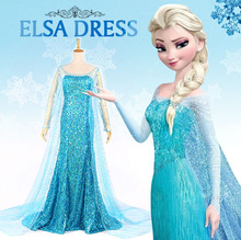 princess frozen elsa coronation dress costume cosplay for adult