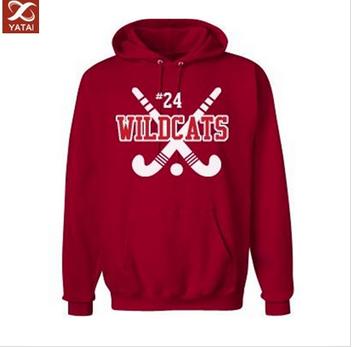 OEM red pullover hockey hoodie