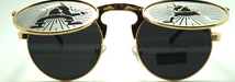 Metal round sunglasses with blinds women uv 400 ce polarized sunglasses