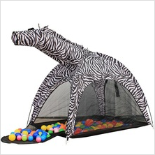 Cartoon Zebra children tent kids playhouse outdoor foldable tent
