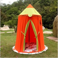 Blue/Yellow/Orange/Green cotton canvas Yurt tent children tent kids play tent