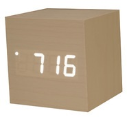 desk alarm clock wooden