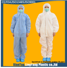 Printing Protective Housekeeping Coverall Suit For Sale