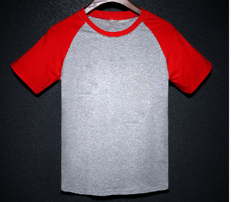 2015 New style round neck short sleeve printed t-shirt