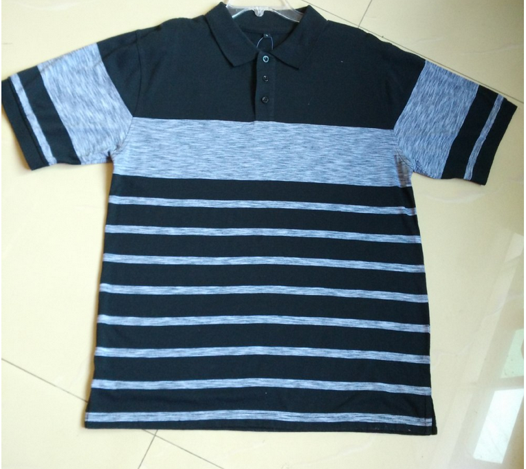 2015 new design Men striped polo shirt