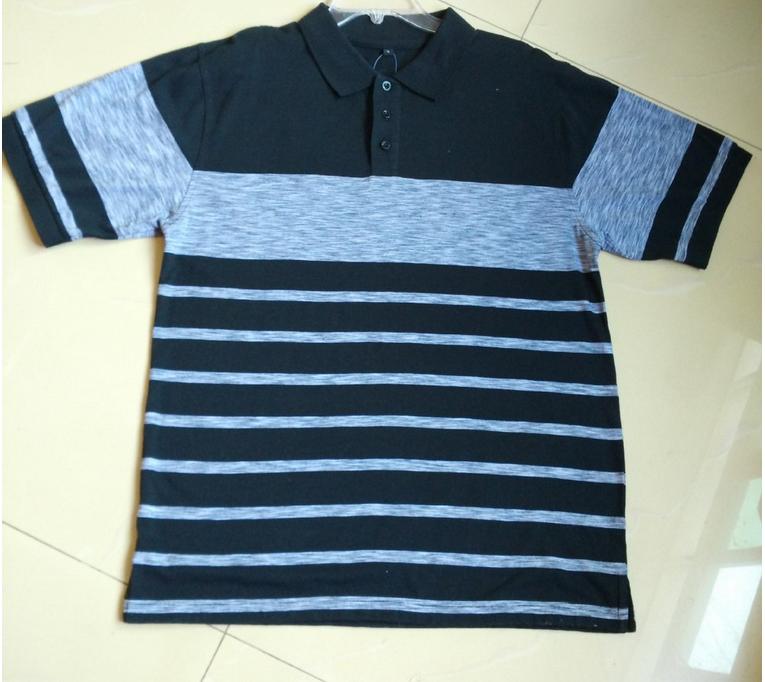 2015 new design Men striped polo shirt