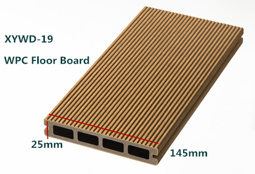 Recyclable and Anti-UV WPC decking floor