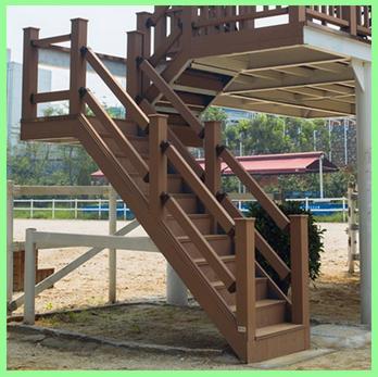 Durable Antiskid Wood Plastic Composite Stairs