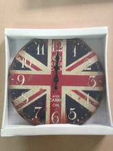 MDF wall clock for home decoration