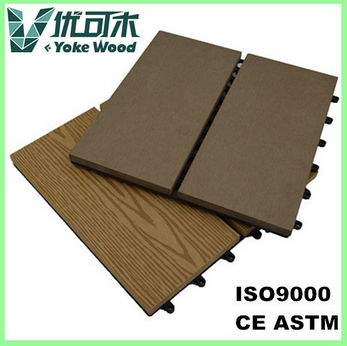 Outdoor interlocking WPC decking tiles