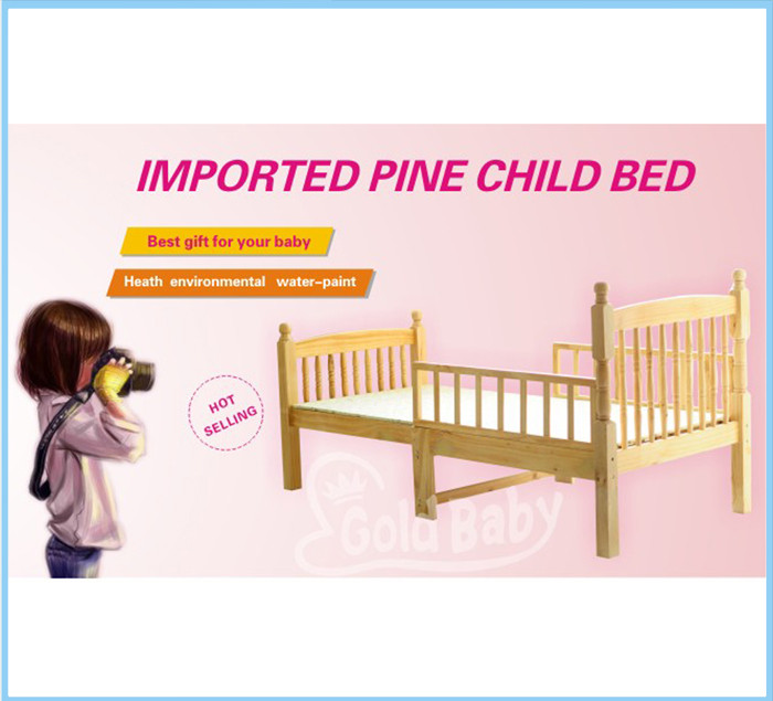 Natural NZ pine toddler bed- bed frame extensible