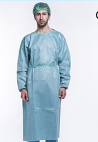 Non woven disposable isolation gown
