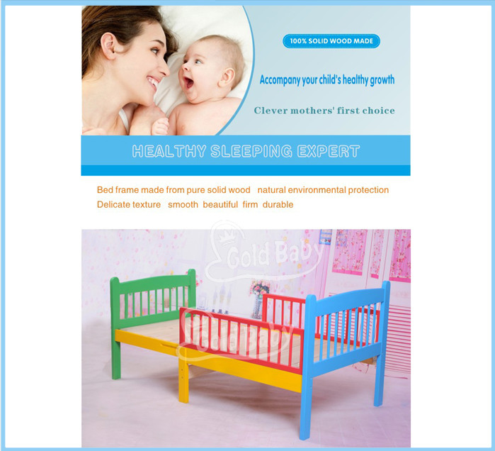 Fixed Sided Multi Purposes Toddler Bed Convertible Youth Extensible