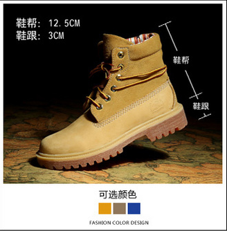 Free Shipping 2015 Autumn Classic Style Women Tooling Boots High Top Suede Leather Martin Boots Ladies Outdoor Work Boots